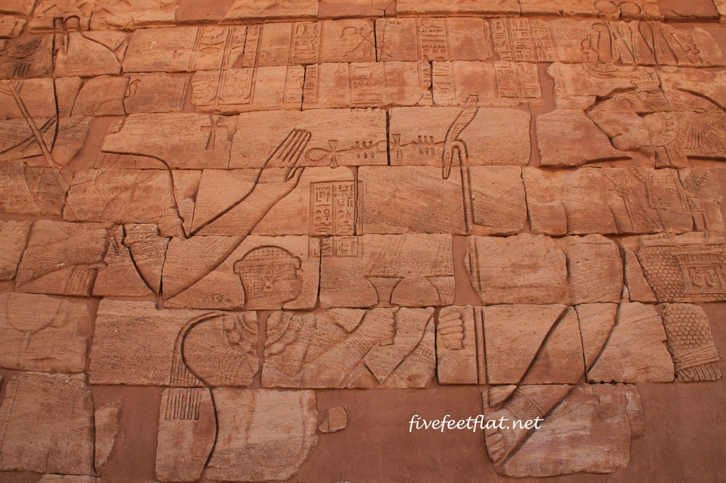 Wall carvings at the Lion Temple of Apedemak in Musawwarat es Sufra, Sudan