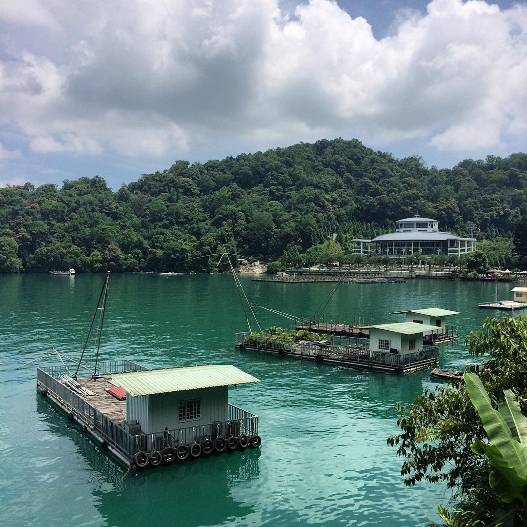 Fishing platforms Sun Moon Lake