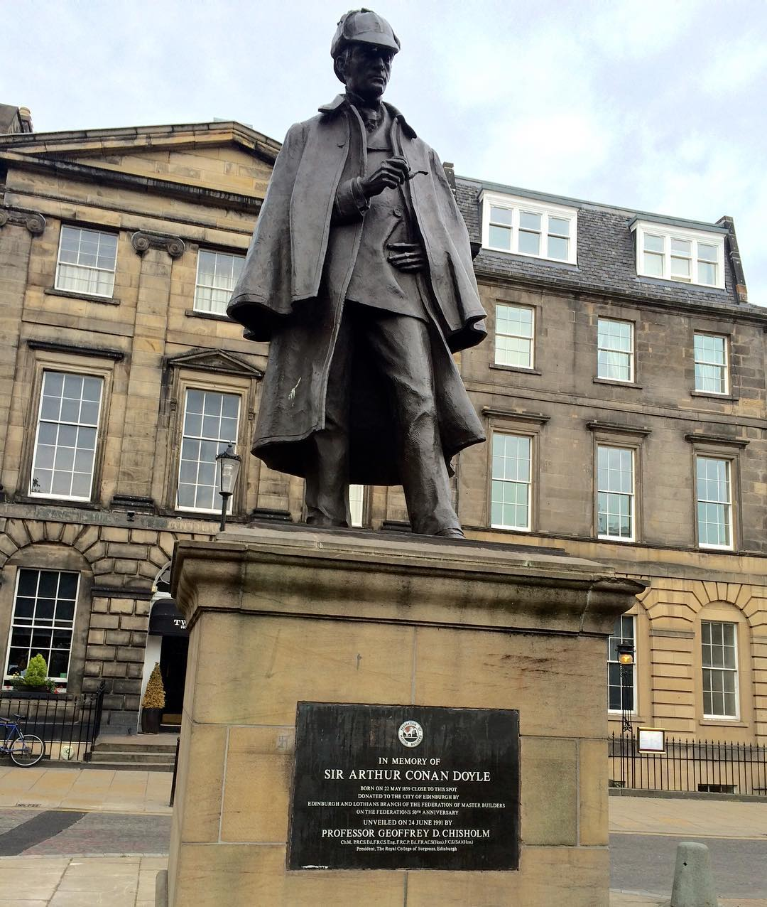 Statue of Sherlock Holmes on Picardy Place where Sir Arthurhellip