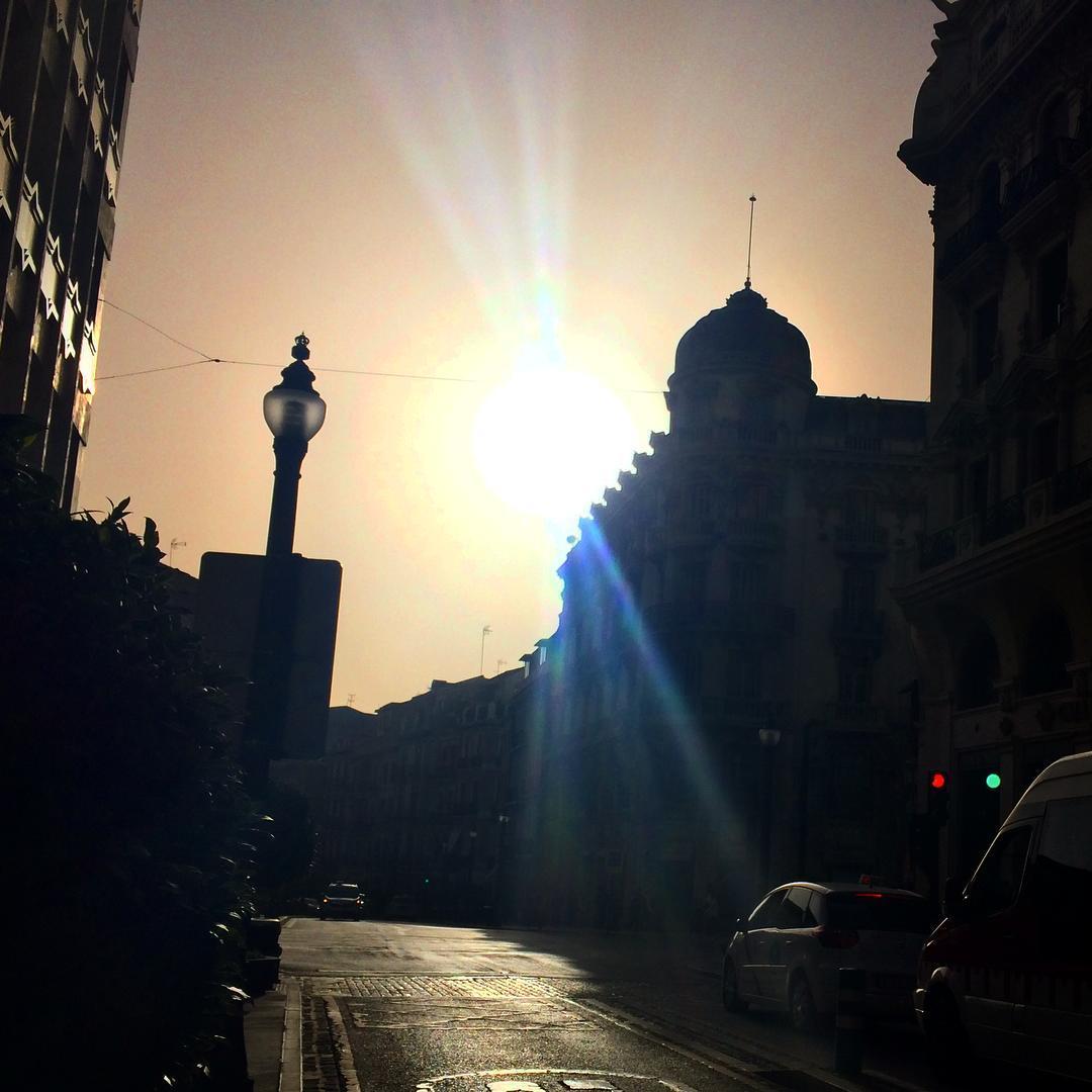 Traffic lights Calle Reyes Catolicos Granada