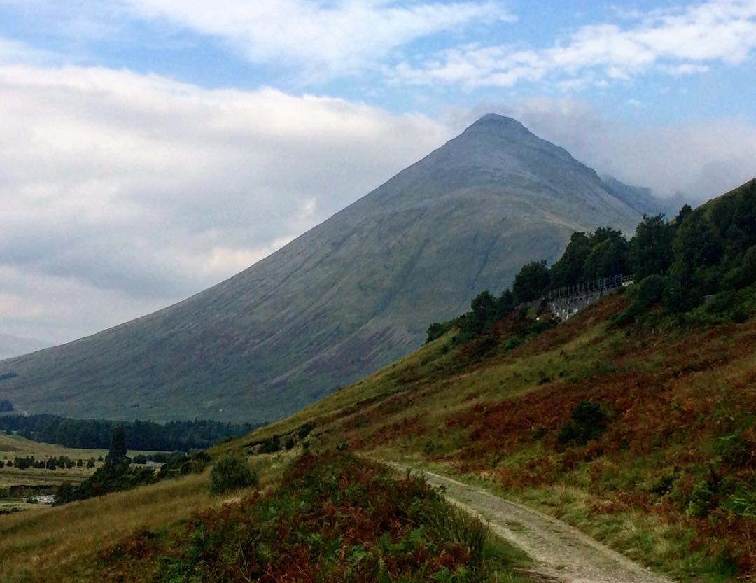 This mountain is Beinn Dorain visible from the path ifhellip