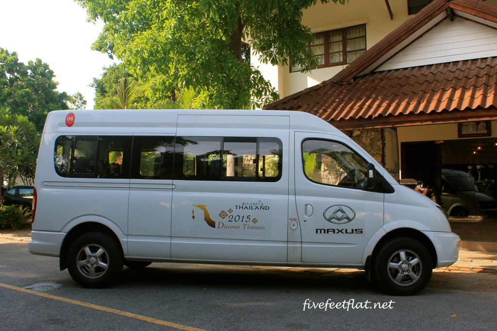 Our van outside the Talkoo Beach Resort in Khanom.