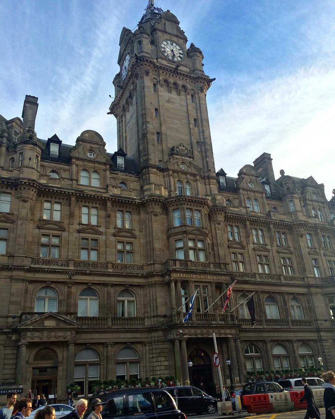 Another lovely building in Edinburgh the Balmoral Hotel on Princeshellip