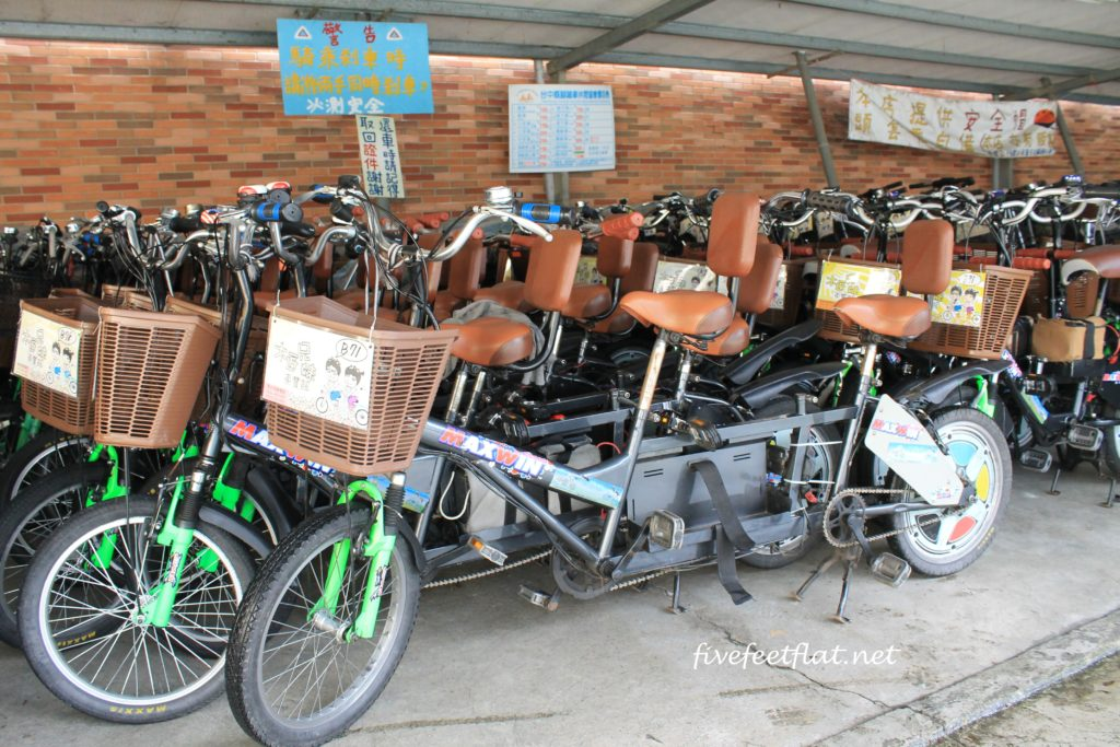 Bike rental rates are regulated by the Taichung County Bicycle Association