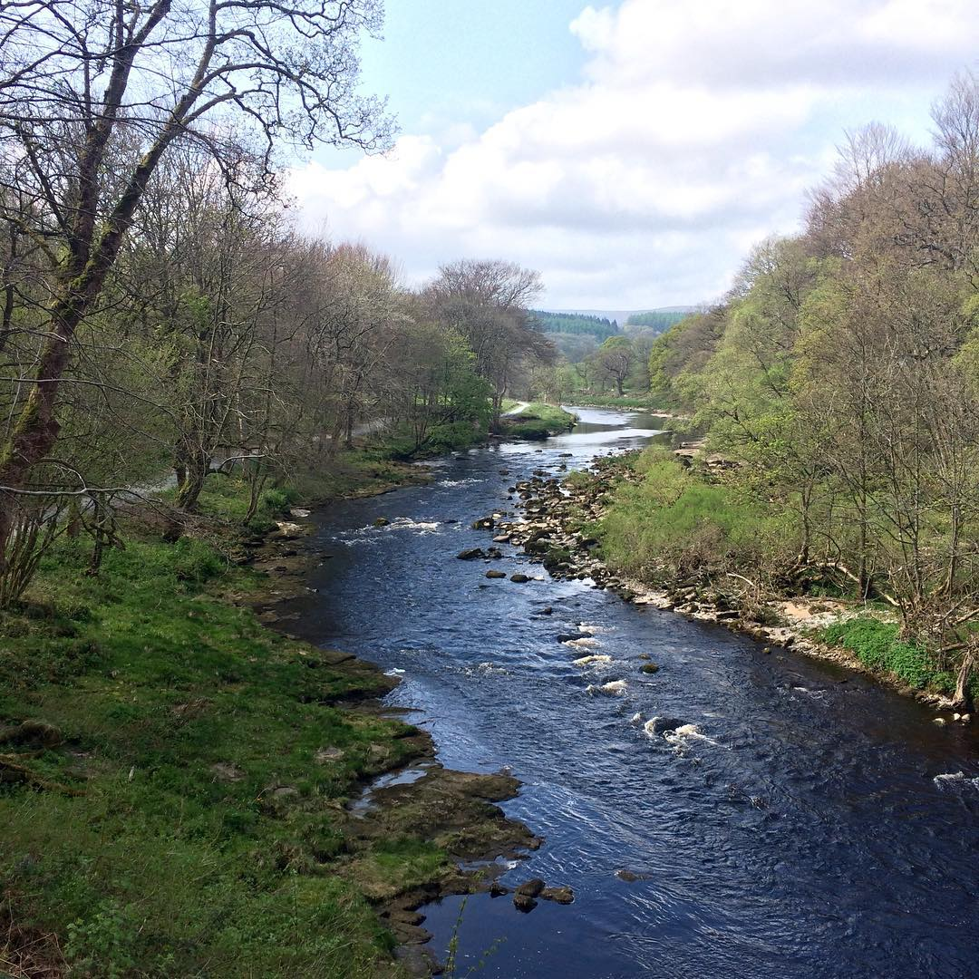 Gorgeous view of the River Wharfe on the way tohellip