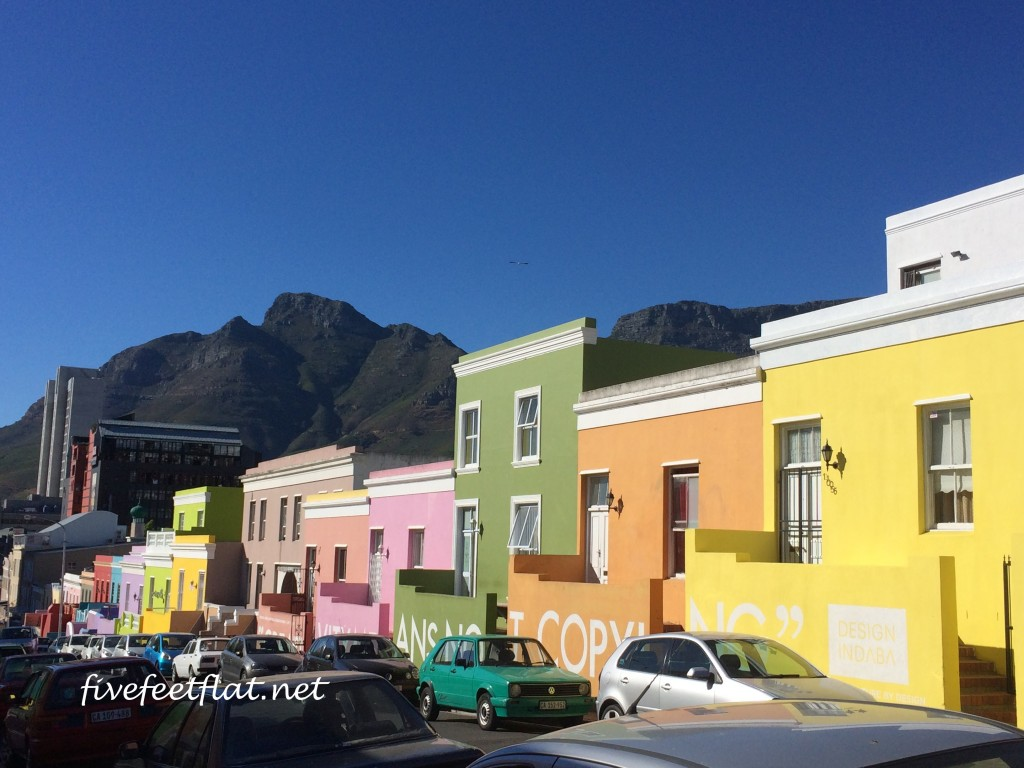 The colourful houses in Bo-Kaap, Cape Town. More on this neighbourhood later.