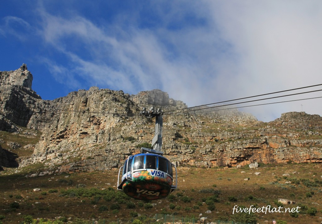 The easy way to go up Table Mountain