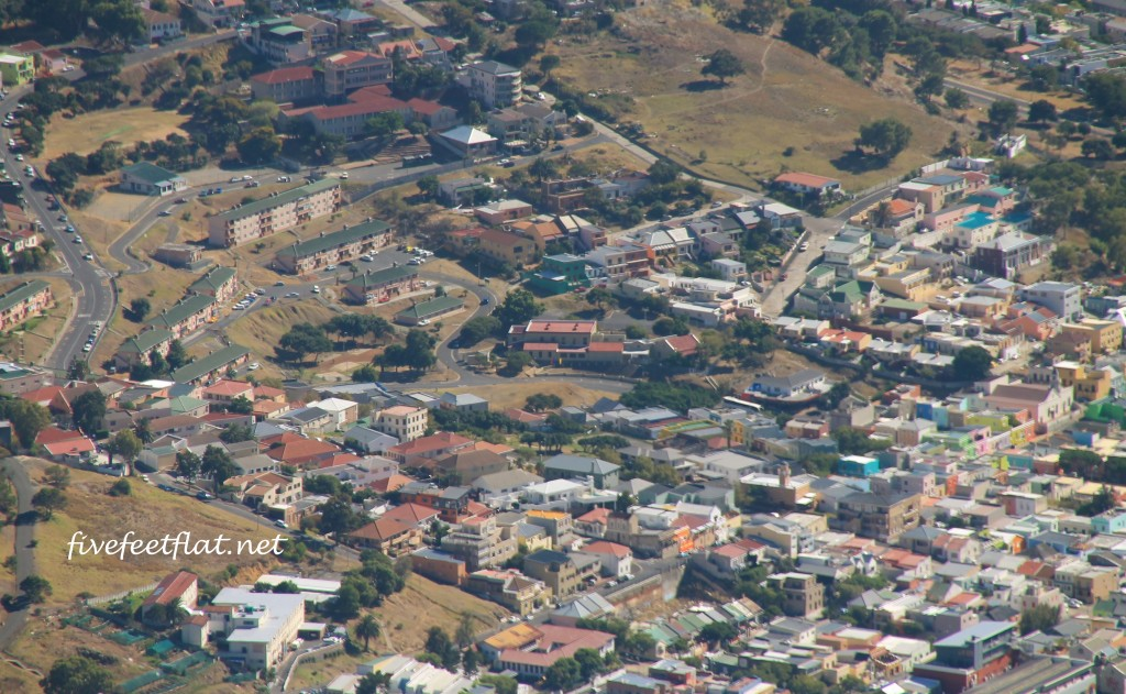 Can you spot that colourful row of houses somewhere near the bottom right corner?