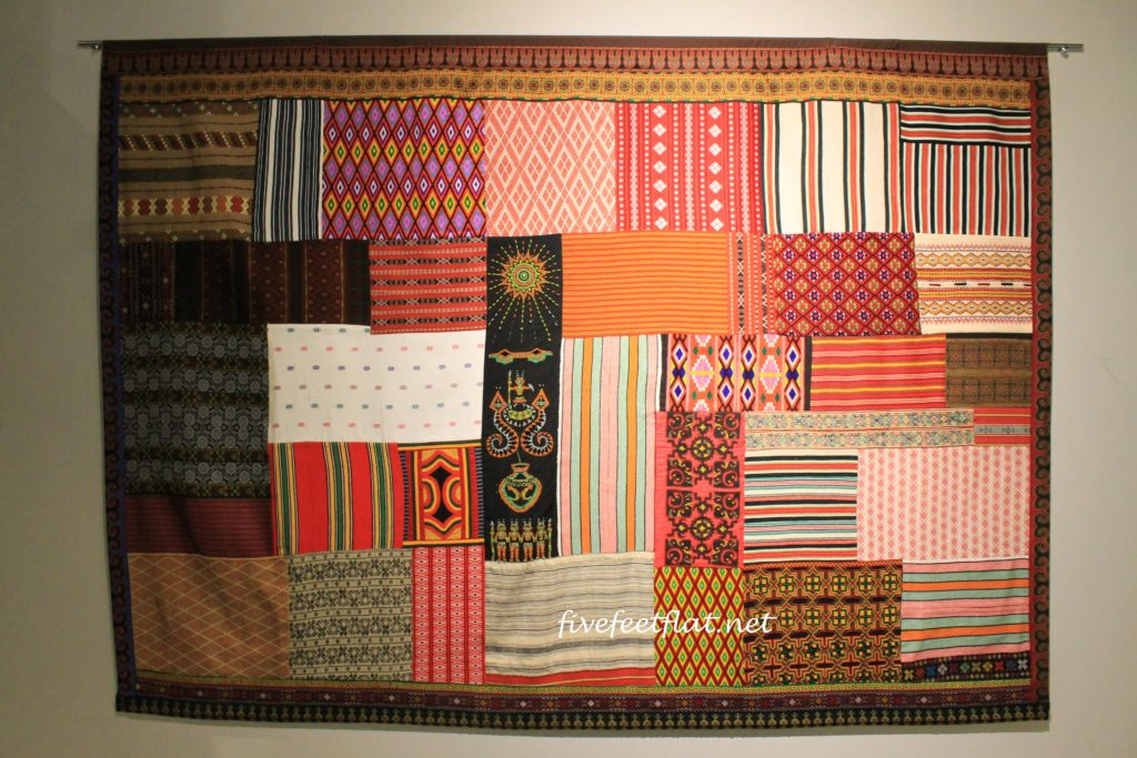 A gorgeous piece of patchwork on display in the museum